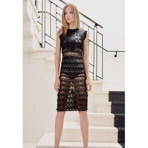 Alexis Black Kayo Fringe Yoke Lace Dress Size M